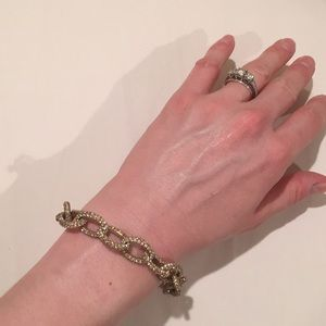 J.Crew gold/diamond bracelet